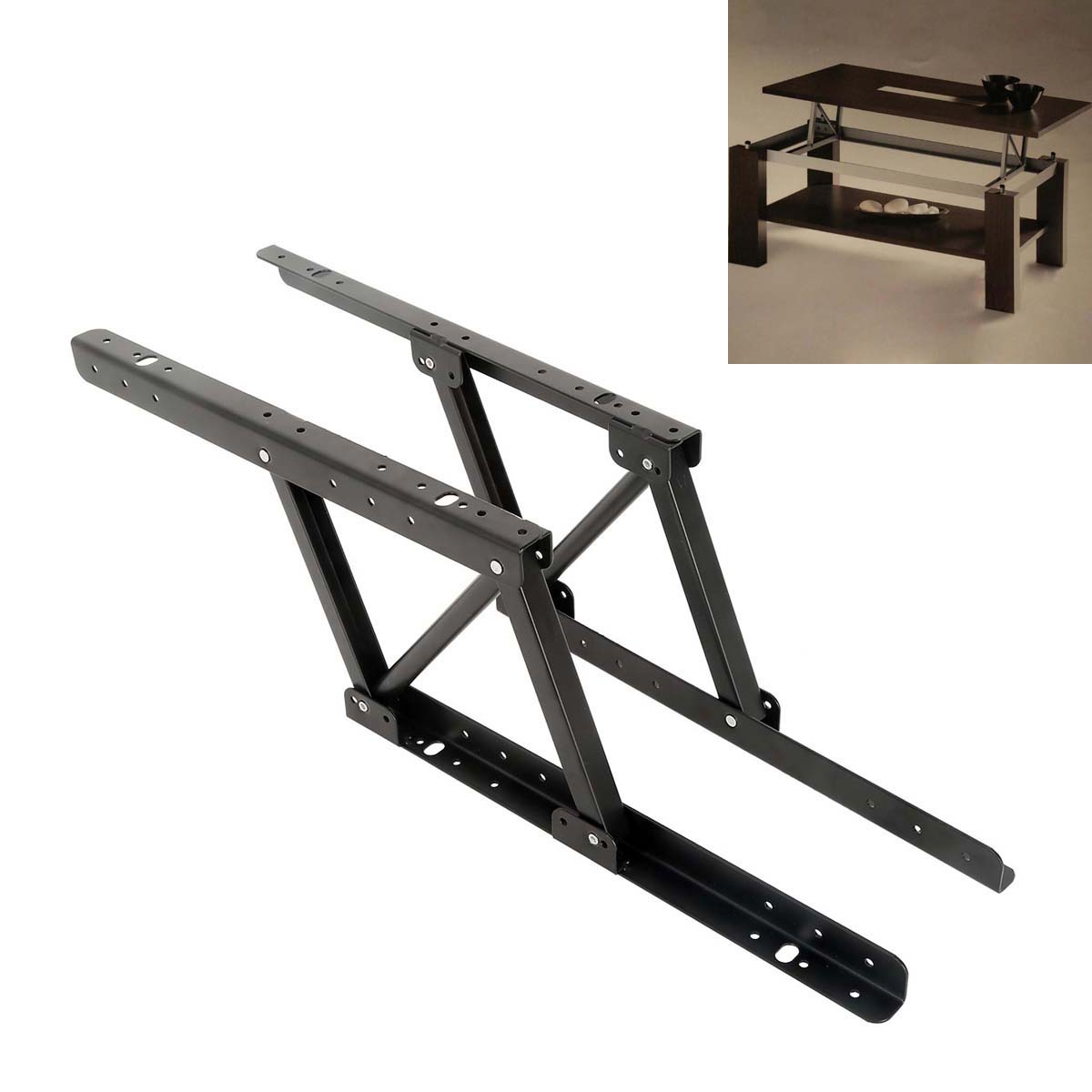 Spring Lift Mechanism : Pair lift up top coffee table lifting frame mechanism