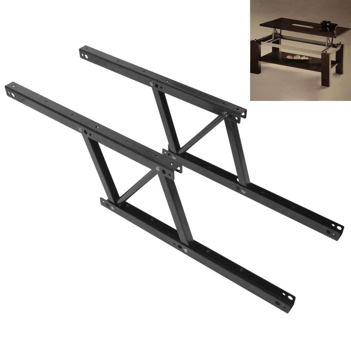 Lift top coffee table mechanism diy hardware lift up for Lift top coffee table hinges