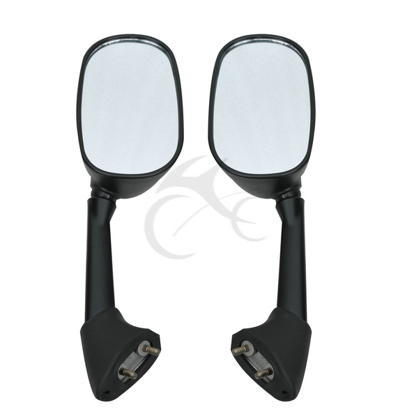 Black side rear view mirrors for yamaha yzf r1 2007 2008 for Yamaha r6 aftermarket mirrors