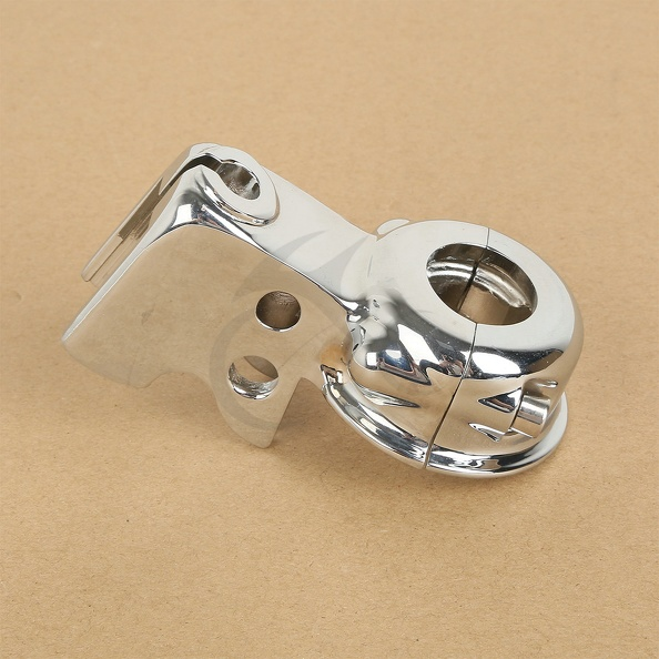 Chrome Clutch Lever Mount Bracket Perch For Harley Glide