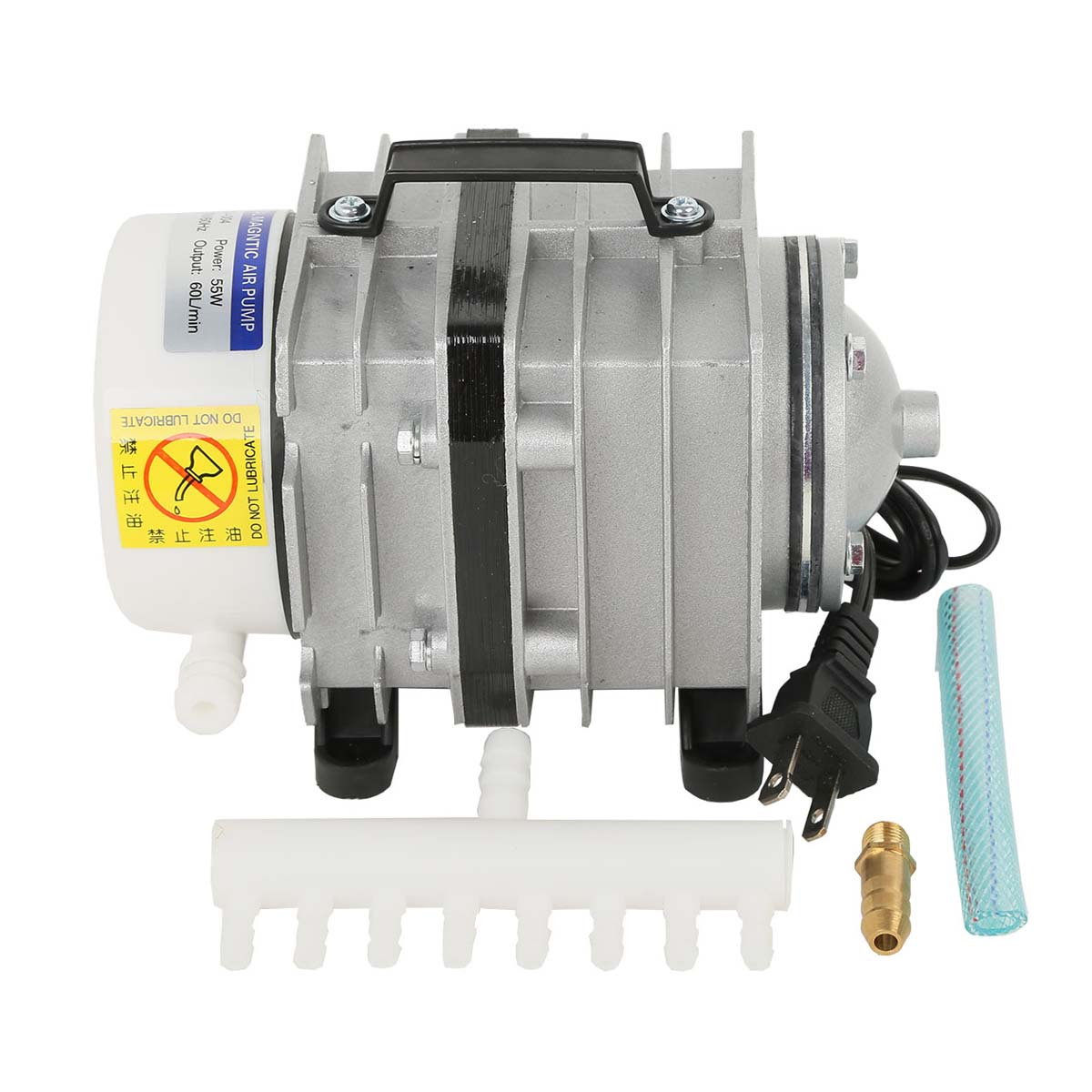 8 outlet commercial air pump elemental o2 aquarium for Hydroponic air pump