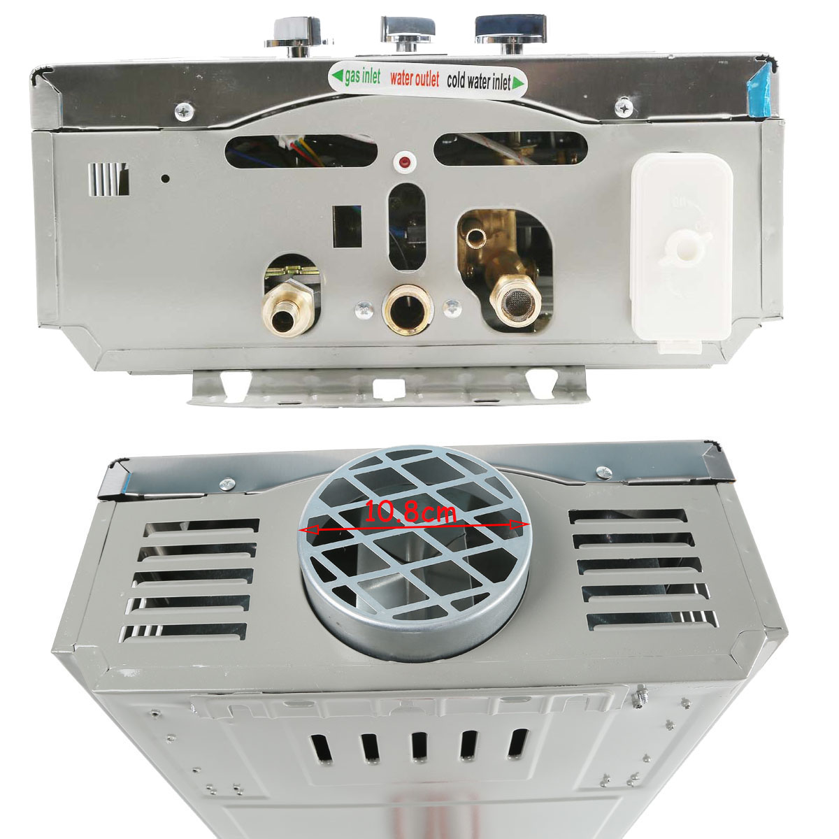 #614A40 12L LPG GAS PROPANE HOT WATER HEATER HOME 2.6GPM TANKLESS  Brand New 4601 Hydronic Duct Heater images with 1200x1200 px on helpvideos.info - Air Conditioners, Air Coolers and more